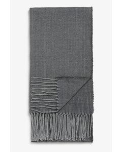 Lightweight Tassel Scarf Grey