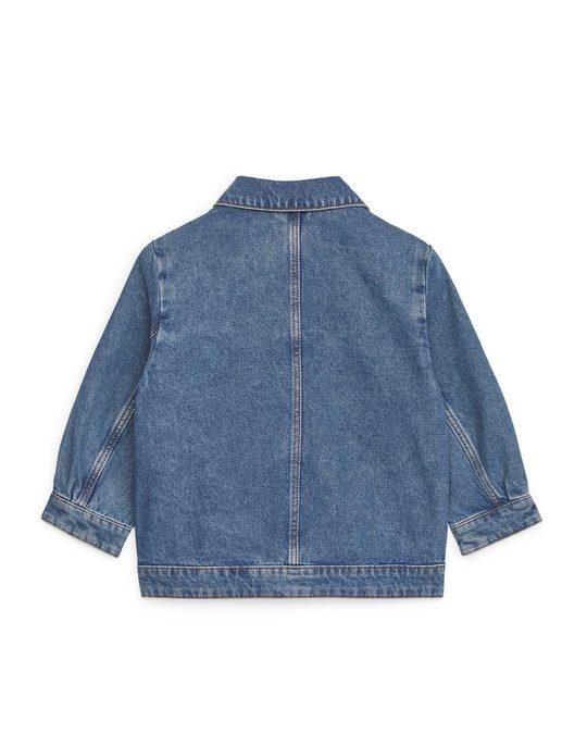 Arket Oversized Denim Jacket Blue