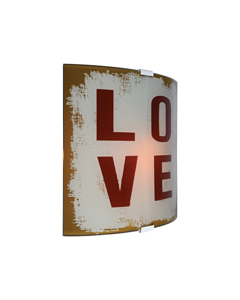 Love Wandlamp Glas