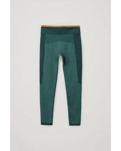 Seamless Jersey Performance Leggings Green