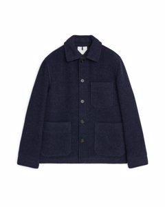 Wool Workwear Jacket Dark Blue