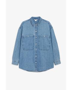 Oversized Cotton Shirt Denim