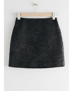 Jacquard Mini Skirt Black