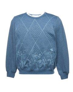 2000s Petites Embroidered Sweatshirt