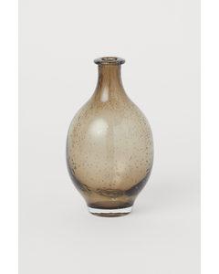 Liten Vas I Glas Beige
