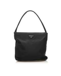 Prada Tessuto Shoulder Bag Black