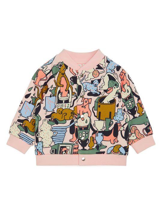 Arket Artist Edition Sweatshirt Jacket Pink/multicolour