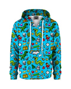 Mr. Gugu & Miss Go Rpg Kids Hoodie Light Blue