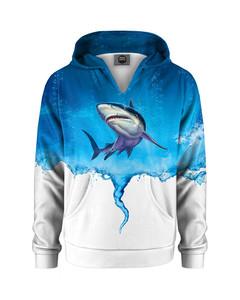 Mr. Gugu & Miss Go Sharknado Kids Hoodie Ocean Blue