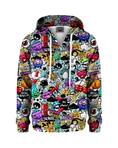 Mr. Gugu & Miss Go Graffiti Doodle Kids Hoodie Urban Rainbow