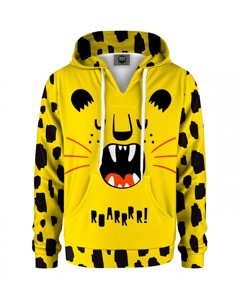 Mr. Gugu & Miss Go Roarrrr Kids Hoodie Cartoon Yellow