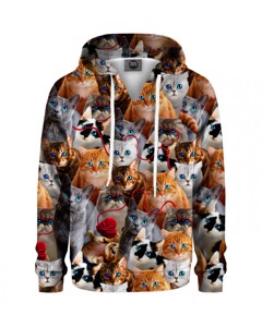 Mr. Gugu & Miss Go Kitty Stare Kids Hoodie Animal Brown