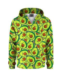 Mr. Gugu & Miss Go Kawaii Avocado Kids Hoodie Cartoon Green