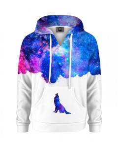 Mr. Gugu & Miss Go Howling To Galaxy Kids Hoodie Animal Blue