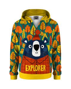 Mr. Gugu & Miss Go Bear Explorer Kids Hoodie Autumn Yellow