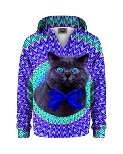 Mr. Gugu & Miss Go Crazy Cat Kids Hoodie Hypnotic Blue