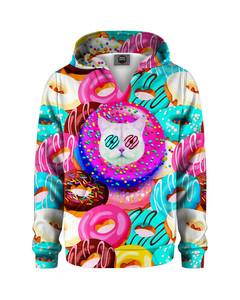 Mr. Gugu & Miss Go Donut Cat Kids Hoodie Pink