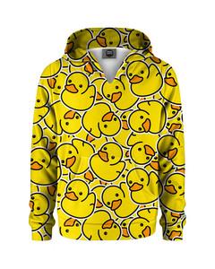 Mr. Gugu & Miss Go Rubber Duck Kids Hoodie Happy Yellow