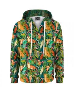 Mr. Gugu & Miss Go In The Jungle Kids Hoodie Green