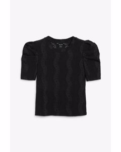 Broderie Anglaise Top Black Magic