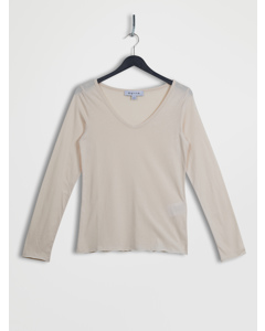 Roll Hem Long Sleeve Top Pink