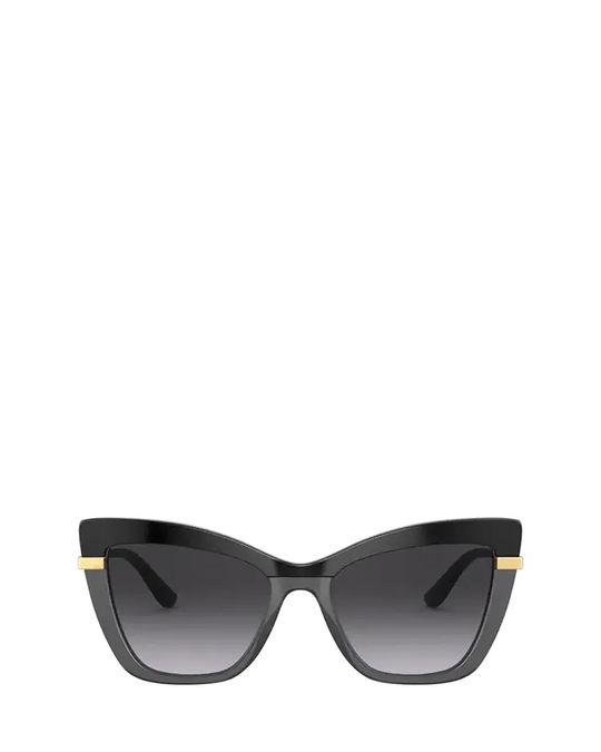 Dolce & Gabbana Dg4374 Black On Transparent Black Sunglasses