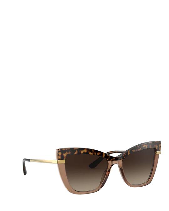 Dolce & Gabbana Dg4374 Havana On Transparent Brown Sunglasses