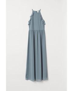 Langes Kleid Mattgrün