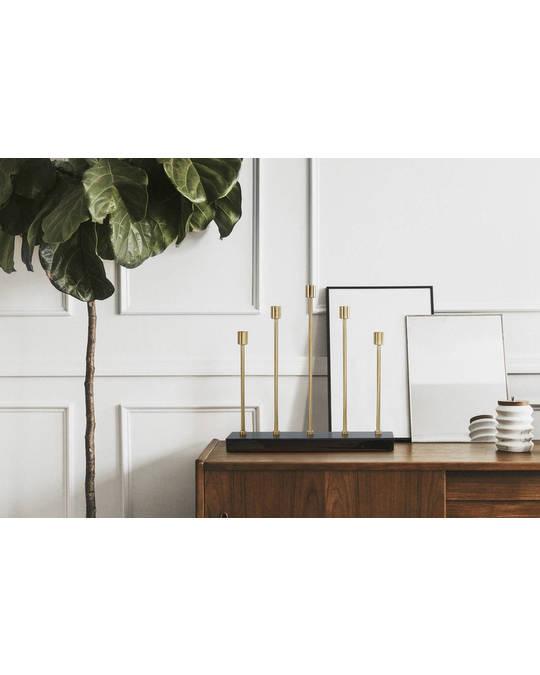 360Living Candleholder Art Deco 525 Dark Green / Gold