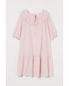 Kleid mit Ballonärmeln Hellrosa
