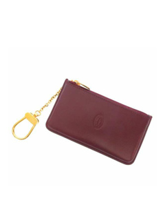 Cartier Must De Cartier Leather Coin Purse Red