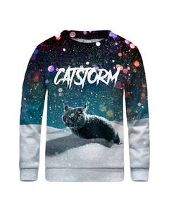 Mr. Gugu & Miss Go Catstorm Kids Sweater Winter Blue
