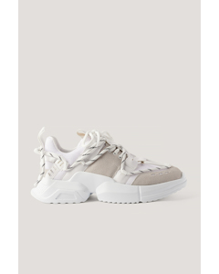 Criss-cross Lacing Trainers White