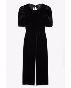 Velvet Jumpsuit Black