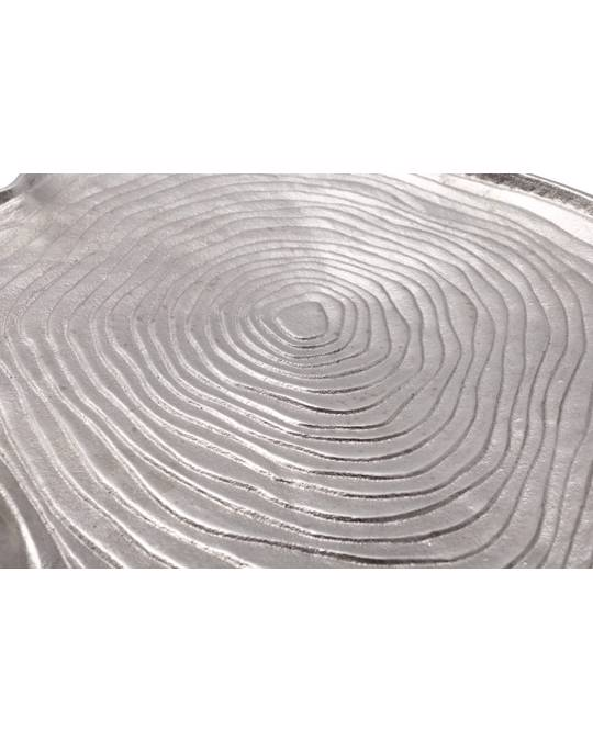 360Living Decorative Try Wood Art 325 Silver
