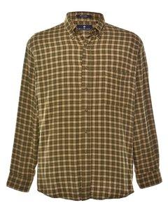 2000s Bill Blass Checked Shirt