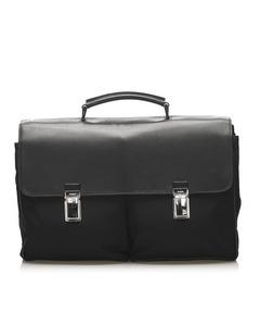 Prada Tessuto Briefcase Black