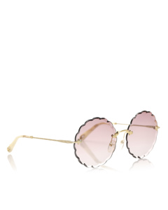 Chloe Round Tinted Sunglasses Brown