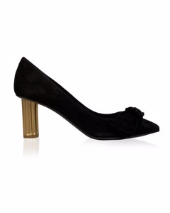 Salvatore Ferragamo Black Suede Garlate Pumps Heels Us 7.5c Eu 38