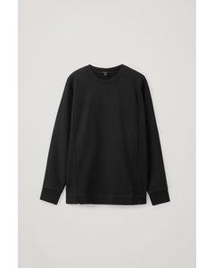 Cotton Relaxed Sweatshirt Black