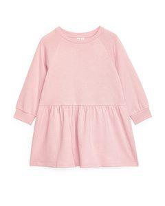 Kleid aus Frottee Rosa