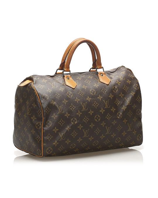 Louis Vuitton Louis Vuitton Monogram Speedy 35 Brown