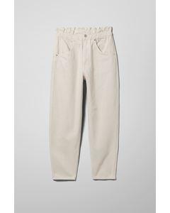 Fulton Denim Trousers Beige