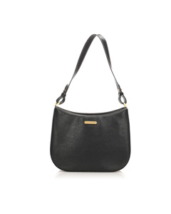 Burberry Leather Shoulder Bag Black