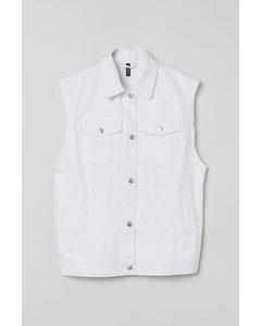 Jeansweste Weiß