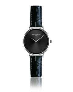 Iris Ultra Thin Black Alligator  Watch