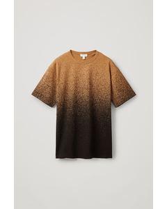 Bedrucktes T-Shirt Aus Biobaumwolle Braun/Schwarz