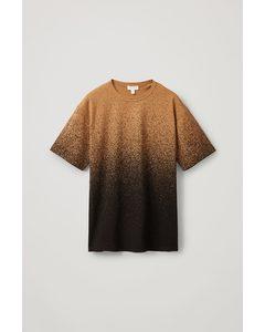 Ombré Printed T-shirt Brown / Black