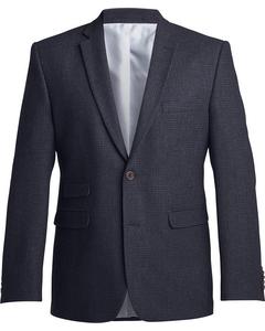 Checked Tweed Blazer Dark Grey
