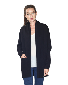 Shawl Collar Long Cardigan With Pockets